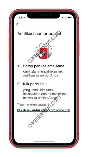 Klik Link Verifikasi Nomor Ponsel