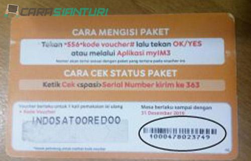 Lihat Nomor Barcode Voucher