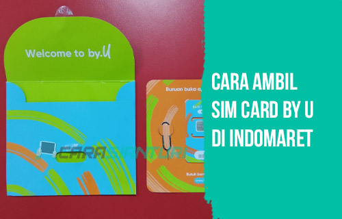 Cara Ambil SIM Card by U di Indomaret