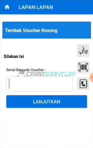 Masukkan Serial Barcode Voucher