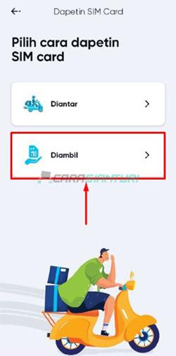 Metode Ambil SIM Card