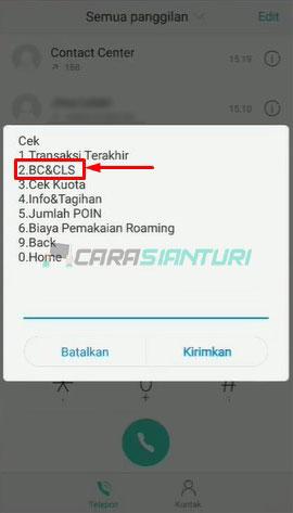 Pilih BC CLS