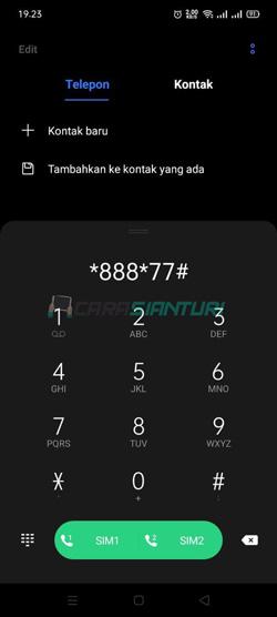 Ketik Kode Dial