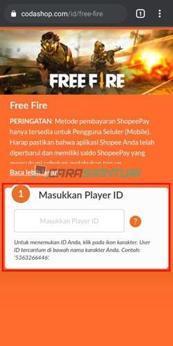 Masukkan Player ID