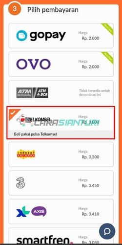 Pilih Pulsa Telkomsel