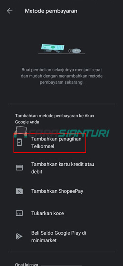 Tambahkan Penagihan Telkomsel